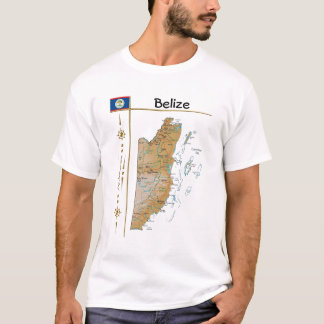 Belize Map + Flag + Title T-Shirt