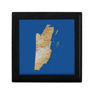 Belize Map Gift Box