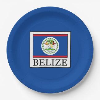 Belize Paper Plate