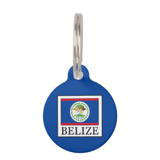 Belize Pet Name Tag