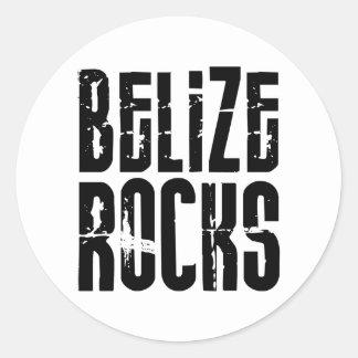 Belize Rocks Classic Round Sticker