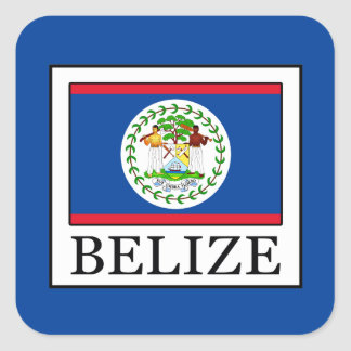 Belize Square Sticker