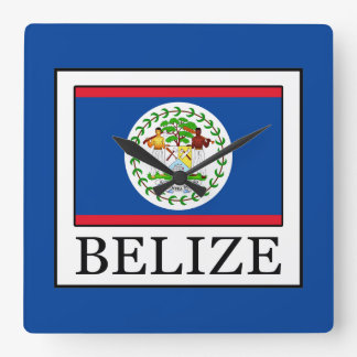Belize Square Wall Clock