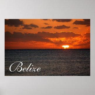 Belize Sunrise Poster2 Poster