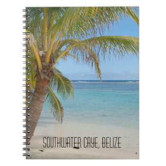 Belize Tropical Beach Caribbean Sea Seascape Notebook