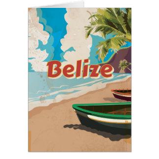 Belize Vintage travel poster Card