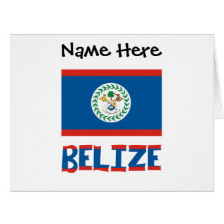 Belizean Flag and Belize with Name Card