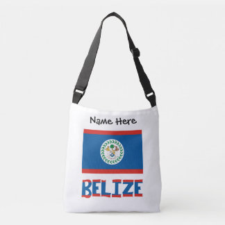 Belizean Flag and Belize with Name Crossbody Bag