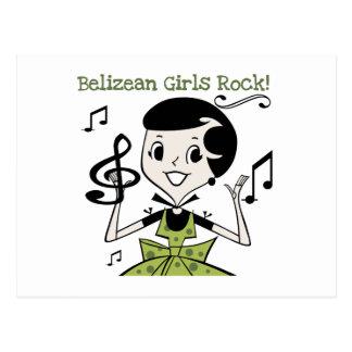 Belizean Girls Rock Postcard