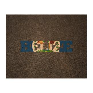 Belizean name and flag cork paper print