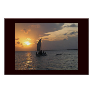 Belizean Sunset Poster
