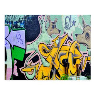 Belka and Strelka graffiti Postcard