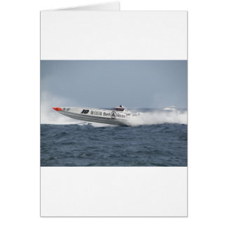 Bell and Ross Powerboat. Greeting Card