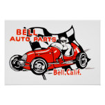 Bell Auto Part Vintage Logo Poster