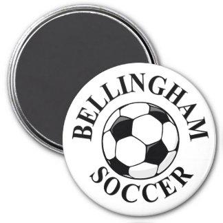 Bell Ball & Logo (A) CMYK BLACK 10x10 Magnet