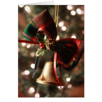 Bell, Bow, & Mistletoe Holiday Christmas Card