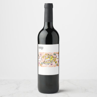 bell dove bow wine label