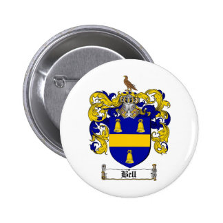 BELL FAMILY CREST -  BELL COAT OF ARMS 2 INCH ROUND BUTTON
