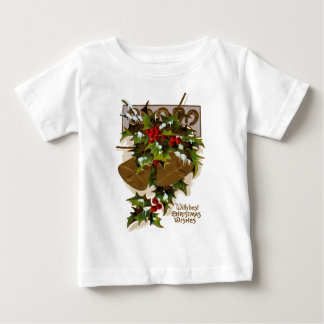 Bell Holly Snow Gold Horseshoe Baby T-Shirt