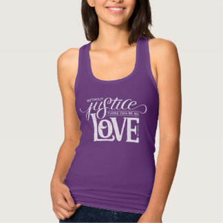 bell hooks Without Justice Fitted Purple Tank