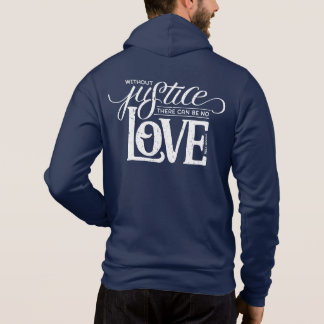 bell hooks Without Justice Navy Zip-Up Hoodie