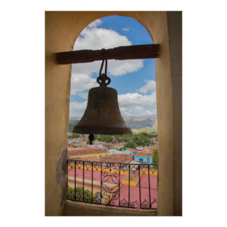 Bell in a church tower, Cuba Poster