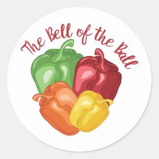Bell Of Ball Round Sticker