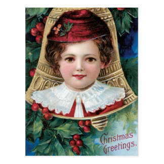 Bell on Christmas Tree Postcard