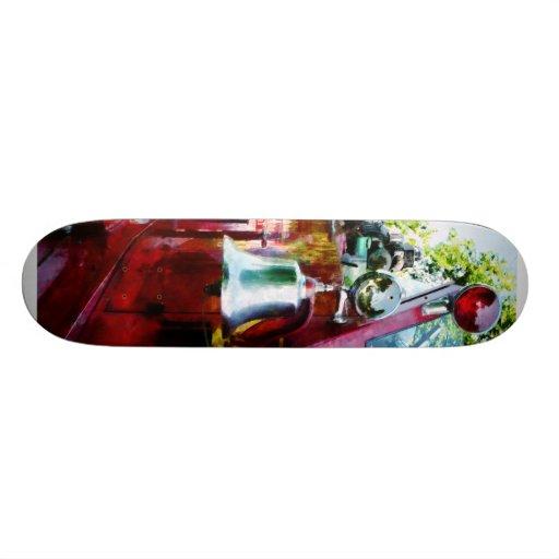 Bell on Fire Engine Custom Skate Board