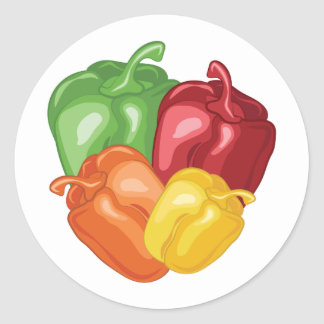 Bell Peppers Round Sticker