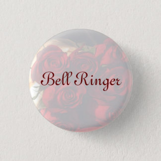 """Bell Ringer"" - Red Rose Bouquet (1) 1 Inch Round Button"