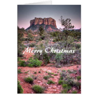 Bell rock Sedona, Arizona, Merry Christmas Card