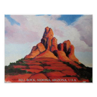 Bell Rock, Sedona, Arizona, USA Poster