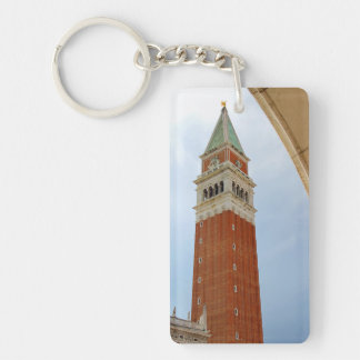 Bell Tower of Saint Mark in Venice - Italy Double-Sided Rectangular Acrylic Keychain