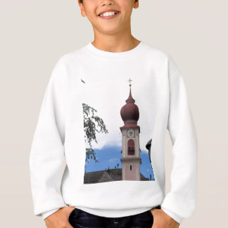 Bell tower, parish church . Ortisei, Val Gardena Sweatshirt