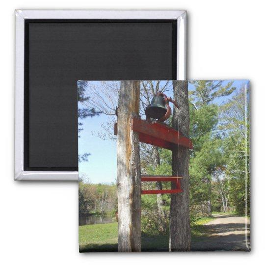 Bell Tree Scene Square Magnet