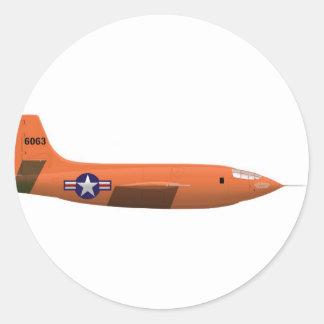 Bell X-1 Rocket plane Classic Round Sticker
