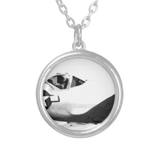 Bell_XP-77_in_flight_(SN_43-34916) Silver Plated Necklace