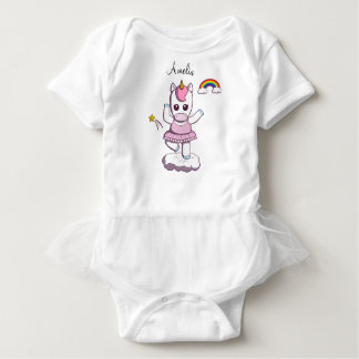 Bella Ballerinicorn baby bodysuit