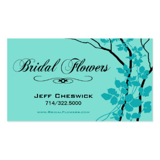 Bella Bridal Floral Arrangements Special Thanks Business Card Templates