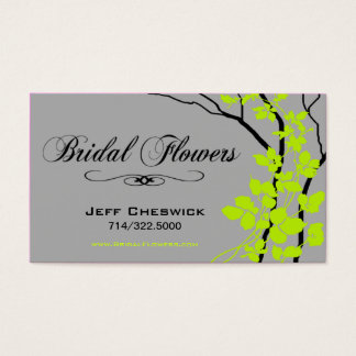 Bella Bridal Floral Arrangements Special Thanks Business Card