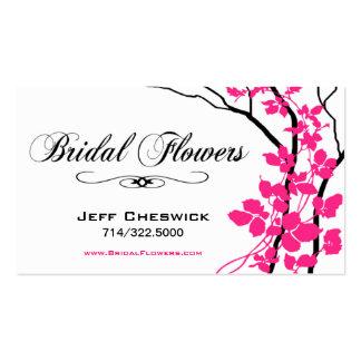 Bella Bridal Floral Arrangements Special Thanks Business Card Template