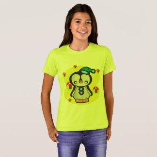 Bella des filles+T-shirt d'équipage de toile, T-shirt