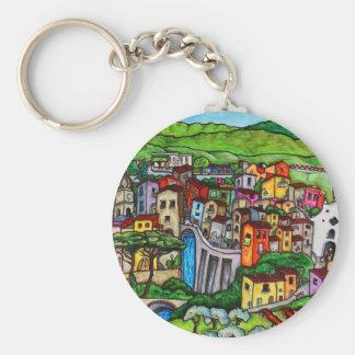 Bella Guardia Basic Round Button Keychain
