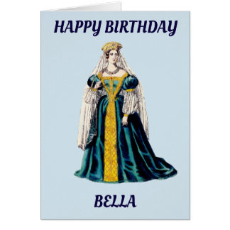 BELLA~ Personalised birthday card ~