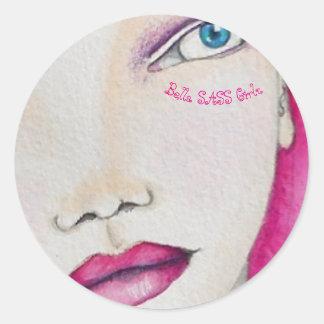 Bella SASS Girl - Pink Stickers