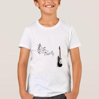 Bella t-shirt+Canvas Crew, Neon Yellow Guitar T-Shirt
