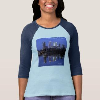 Bella Women's Navy Blue Eclectic Moods Jazzykat T-Shirt