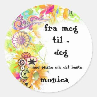 bellababells meg&deg classic round sticker