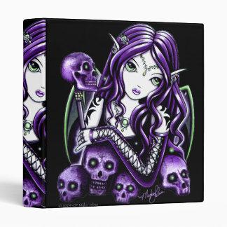 """""""Belladonna"""" Gothic Purple Skull Faerie Binder"""
